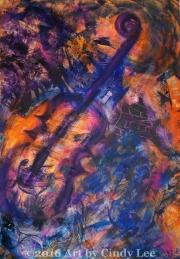 JazzCollage 2002 Acrylic on Watercolor 36x24_1200(C)