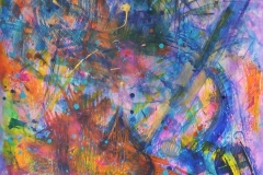 Jam Session 2009 Acrylic on Watercolor 36x24_1200(C)