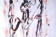 Jazz Trio 1 2003 Mixed on Paper_ 24x16_1200(C)
