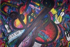 BandPractice 2005, Mixed on Canvas, 24x30