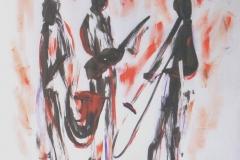Jazz Trio 4 2003 Mixed on paper 24x18_1200(C)