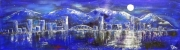 cityScape1_2012 Mixed on cardstock13x46_1200(C)