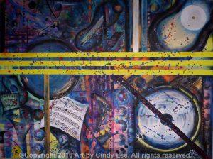 Lines of Musak 2005, 24 x 36